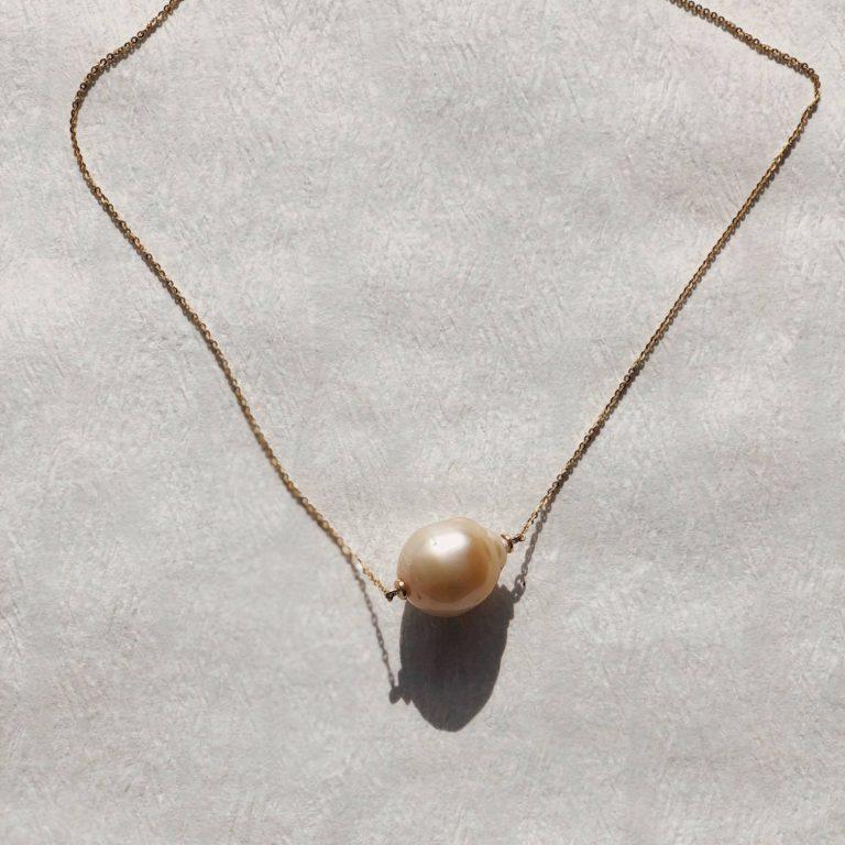 hempeline Gold Collier Barockperle