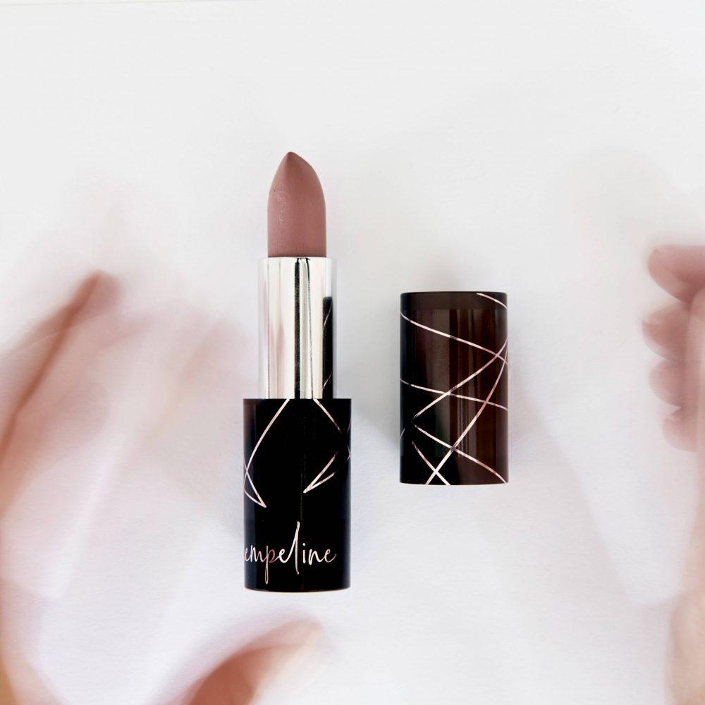 Make Up Seidenmatter Lippenstift nude creme