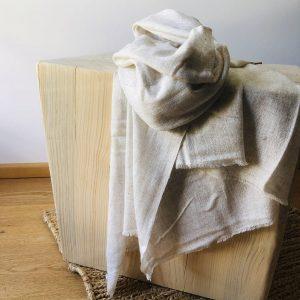 Kaschmir Schal naturbelassen beige