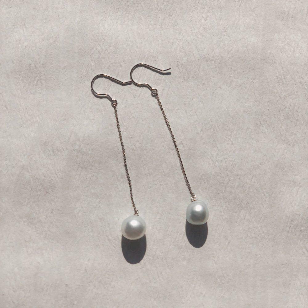 Südseeperlen Ohrhänger lang